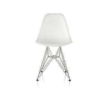 Herman Miller Eames Eiffel White Plastic Chair