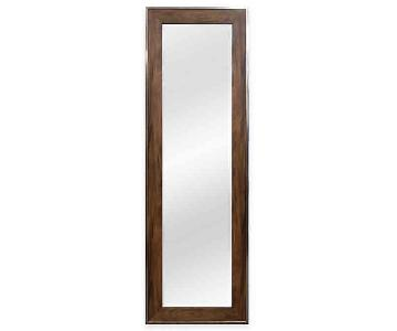 Door Solutions Over-the-Door Mirror in Walnut