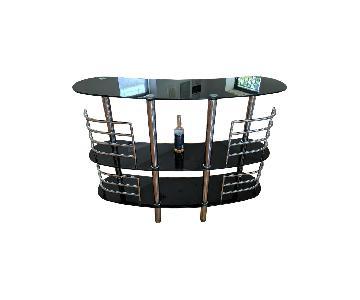Glass & Aluminum Bar/Sideboard