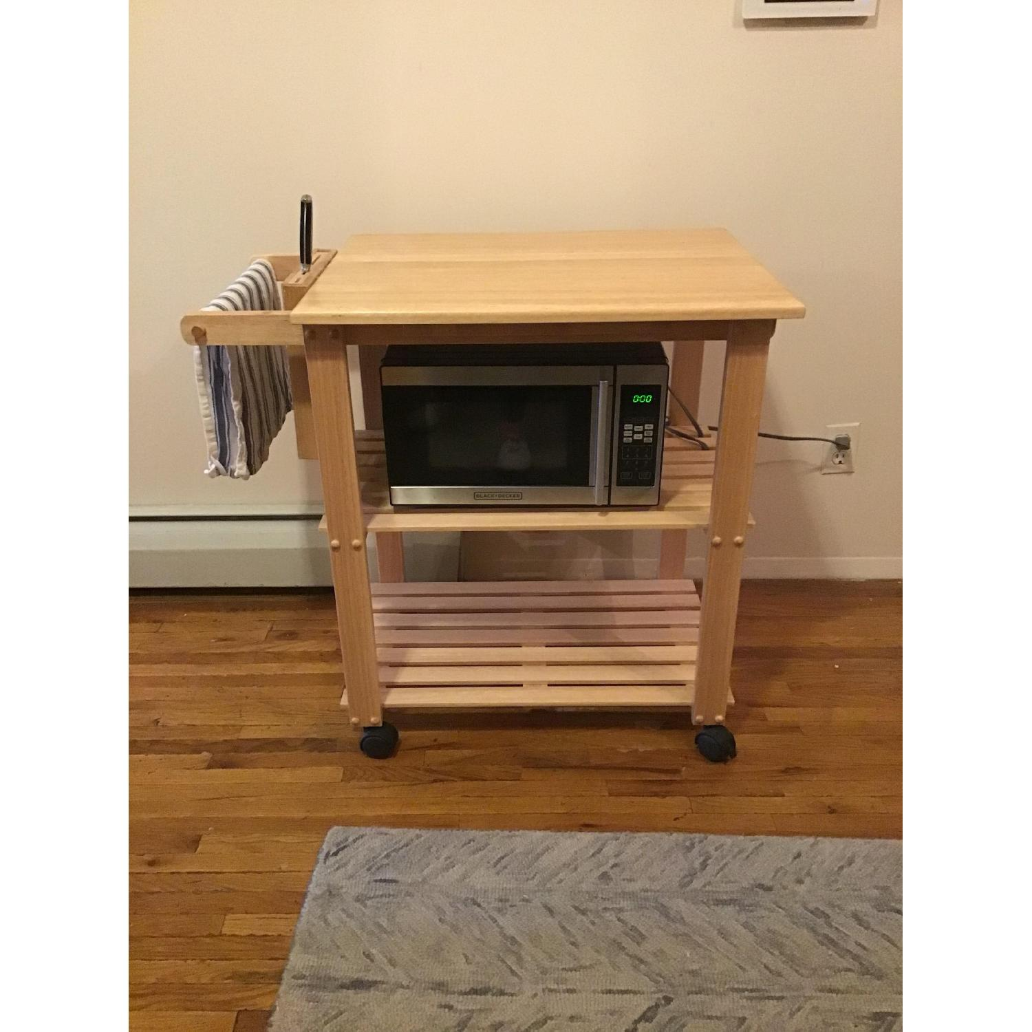 Winsome Wood Rolling Island w/ Built in Knife Block