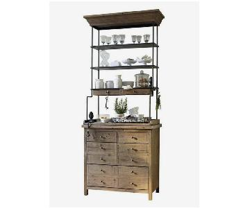 Loberon Wood Sideboard w/ Hutch
