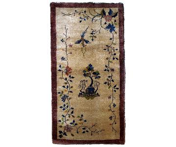 Antique Handmade Art Deco Chinese Rug
