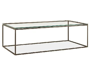 Room & Board Tyne Coffee Table in Glass & Natural Steel