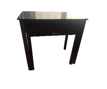 Two Tier Wood Writing Desk w/ Drawer