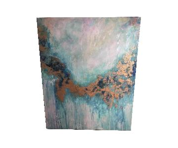Pier 1 Teal Abstract Canvas Wall Art