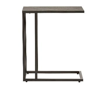Container Store Weathered Smoke C-Table