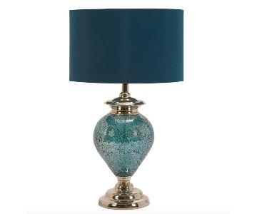 Casa Cortes Handcrafted Mosaic Blue Table Lamp