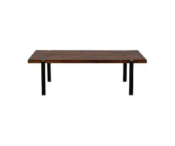 CB2 Wooden Coffee Table