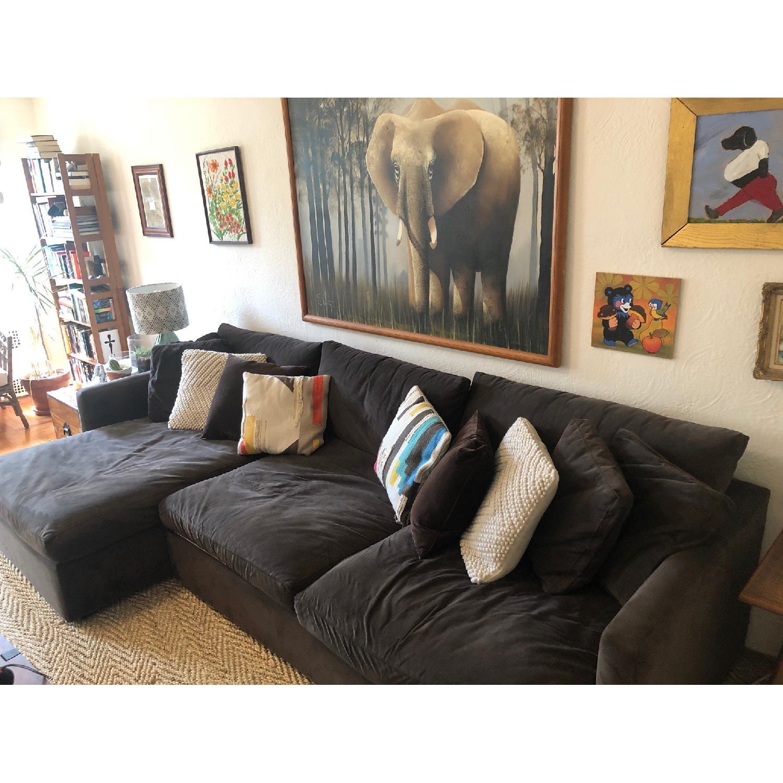 Crate & Barrel L Shaped Sectional Sofa - AptDeco