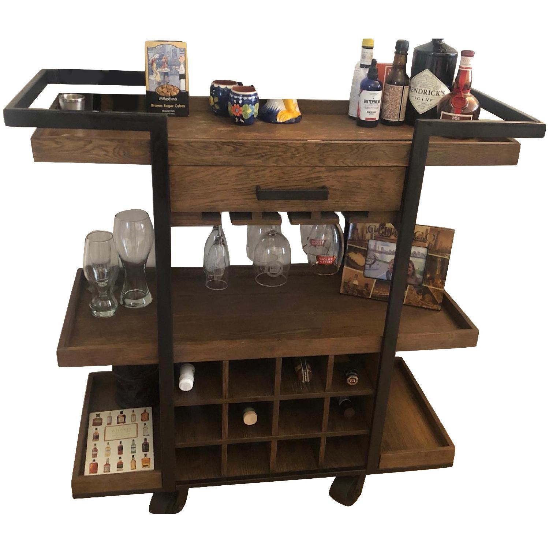 Wood & Metal Rustic Bar Cart