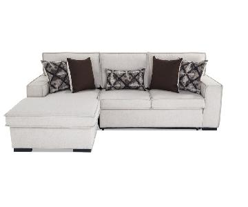 Bob's 2-Piece Gray Sleeper Sectional Sofa w/ Storage