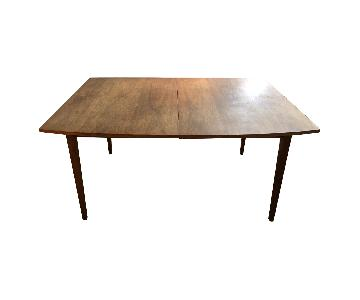 Danish Modern Style Expandable Dining Table
