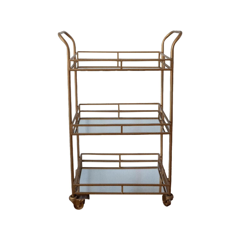 Mirrored Metal Bar Cart