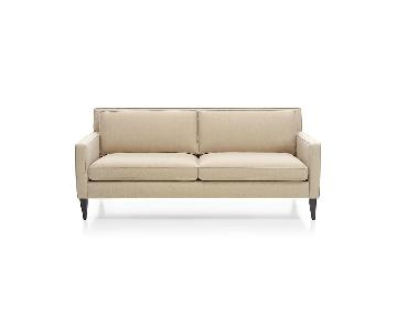 Crate & Barrel Natural Oat Weave Apartment Sofa