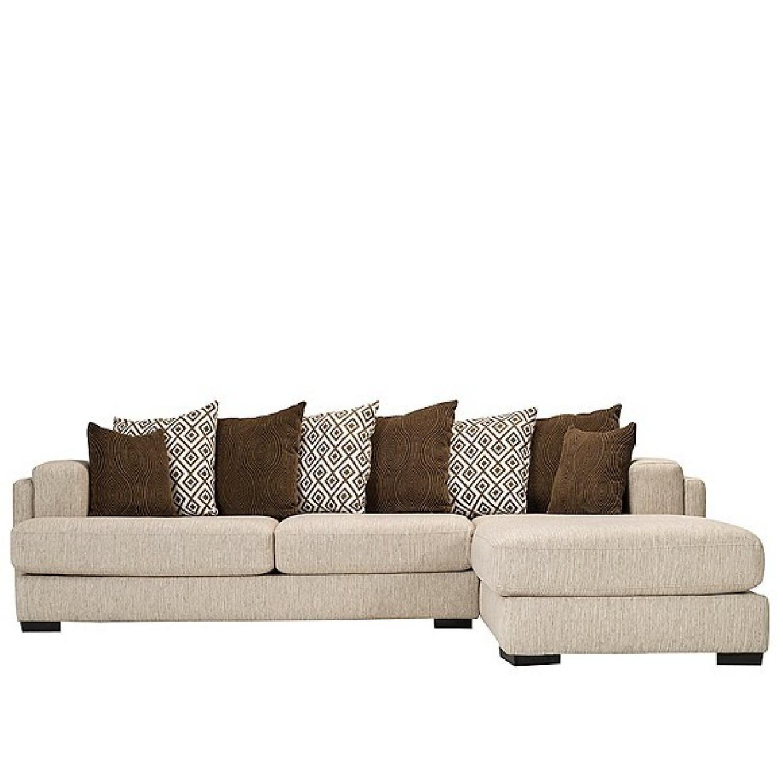 Raymour & Flanigan Urbanity L-Shaped Sectional Sofa - AptDeco
