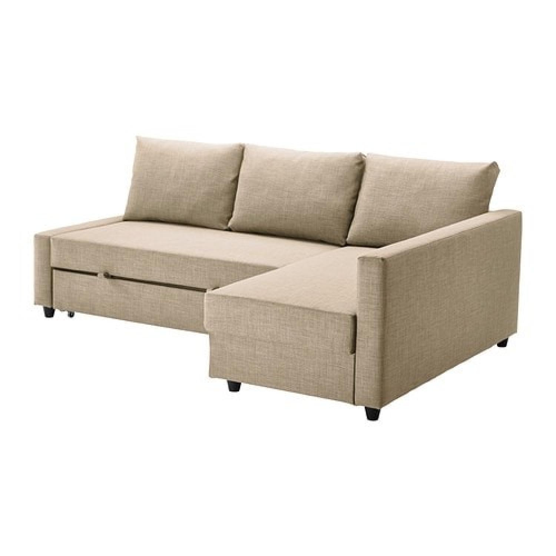 Ikea Sleeper Sectional Sofa w/ Storage - AptDeco