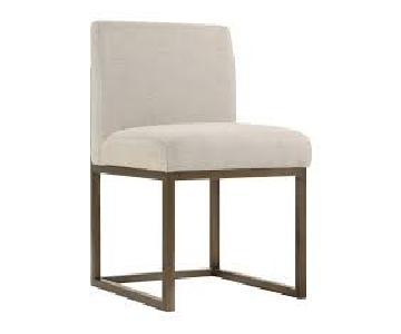 TOV Haute Beige Linen Chair