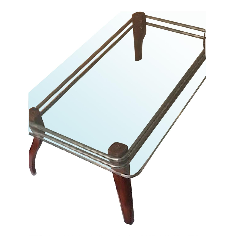 Image of: Room Board Mid Century Modern Coffee Table 2 Side Tables Aptdeco
