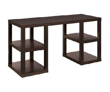 West Elm Console Desk in Chocolate Brown