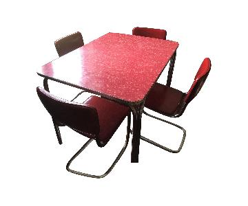 Vintage Formica & Chrome 5-Piece Dining Set