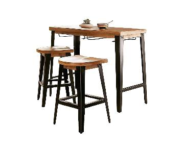 Urban Outfitters Haskall Breakfast Bar Table w/ 2 Stools