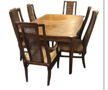 White Fine Furniture Vintage 1960s 7-Piece Dining Set