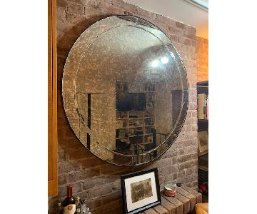 Pottery Barn Walker Antiqued Round Mirror