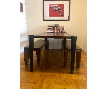 Dining Table w/ Matching West Elm Benches