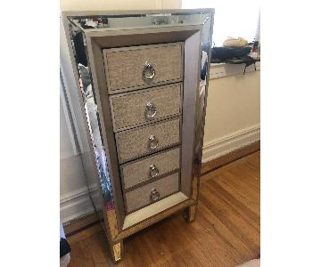 Home Goods Mirrored 5 Drawer Tall Dresser