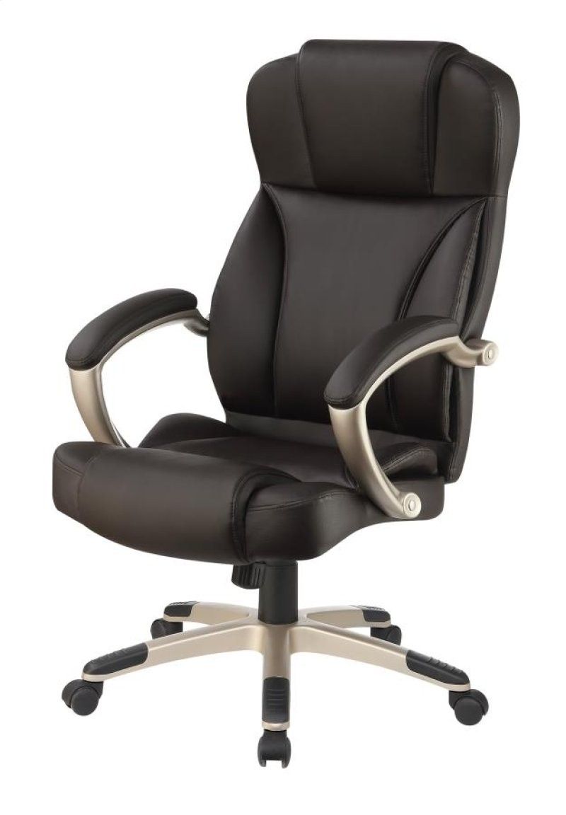 High Back Office Chair in Black Leatherette