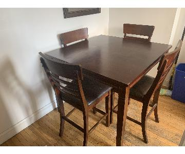 Nathans Furniture 5-Piece Counter Height Dining Set