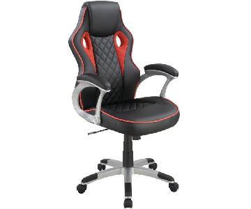 Modern Ergonomic High Back Office Chair in Black Leatherette