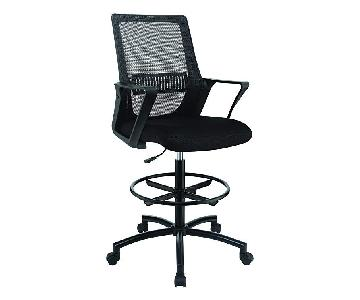 Modern Style Height-Adjustable Drafting Chair w/ Mesh Back