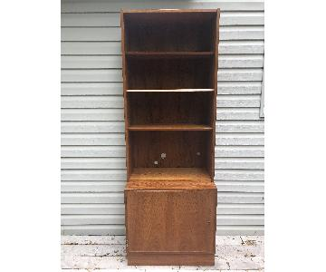 Danish Modern Teak Shelving Unit w/ Locking Cabinet
