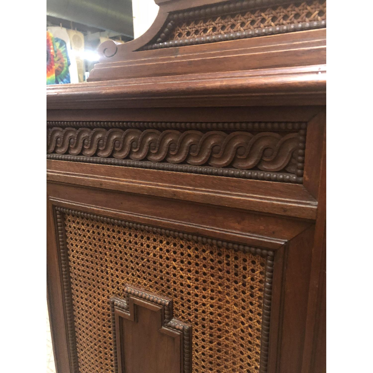 Antique Art Deco Style Sideboard w/ Locking Drawers