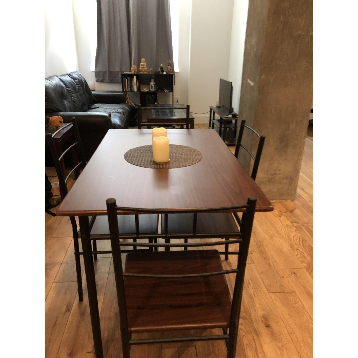 Wood Dining Table W 4 Chairs Aptdeco