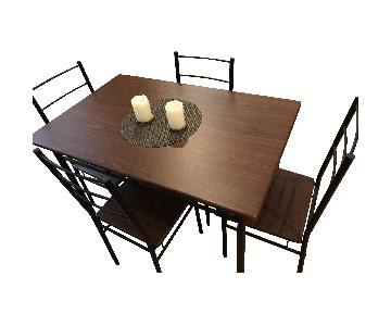 Wood Dining Table w/ 4 Chairs