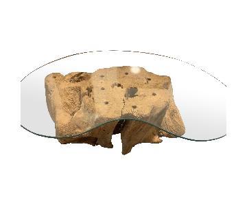 Modern Driftwood Coffee Table