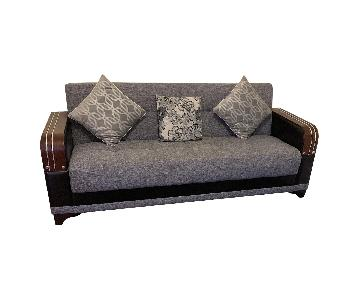 Grey 3-Seater Sofa + Matching Chair