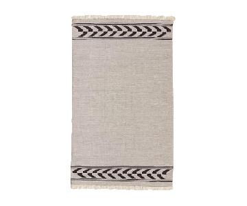 West Elm Steven Alan Arrow Border Cotton Kilim Rug