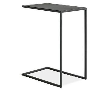 Room & Board Slim C-Table in Natural Steel