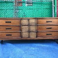 Drexel Mid Century Modern Nine Drawer Dresser