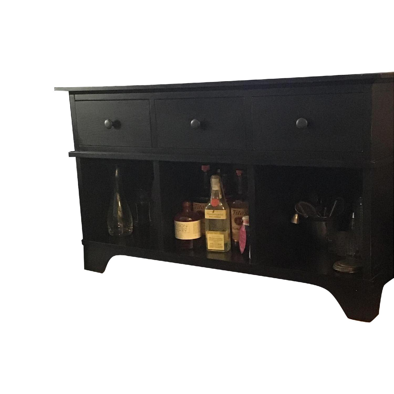 Pottery Barn Black Wood Buffet Cabinet