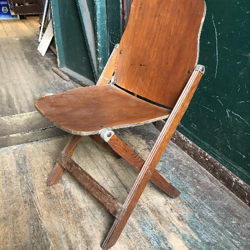 Used Mid Century Modern Bent Wood Folding Chair for sale on AptDeco