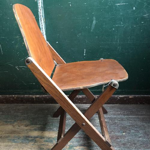 Used Mid Century Modern Bent Wood Folding Chair for sale on AptDeco