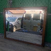Drexel Mid Century Modern Walnut Wall Mirror