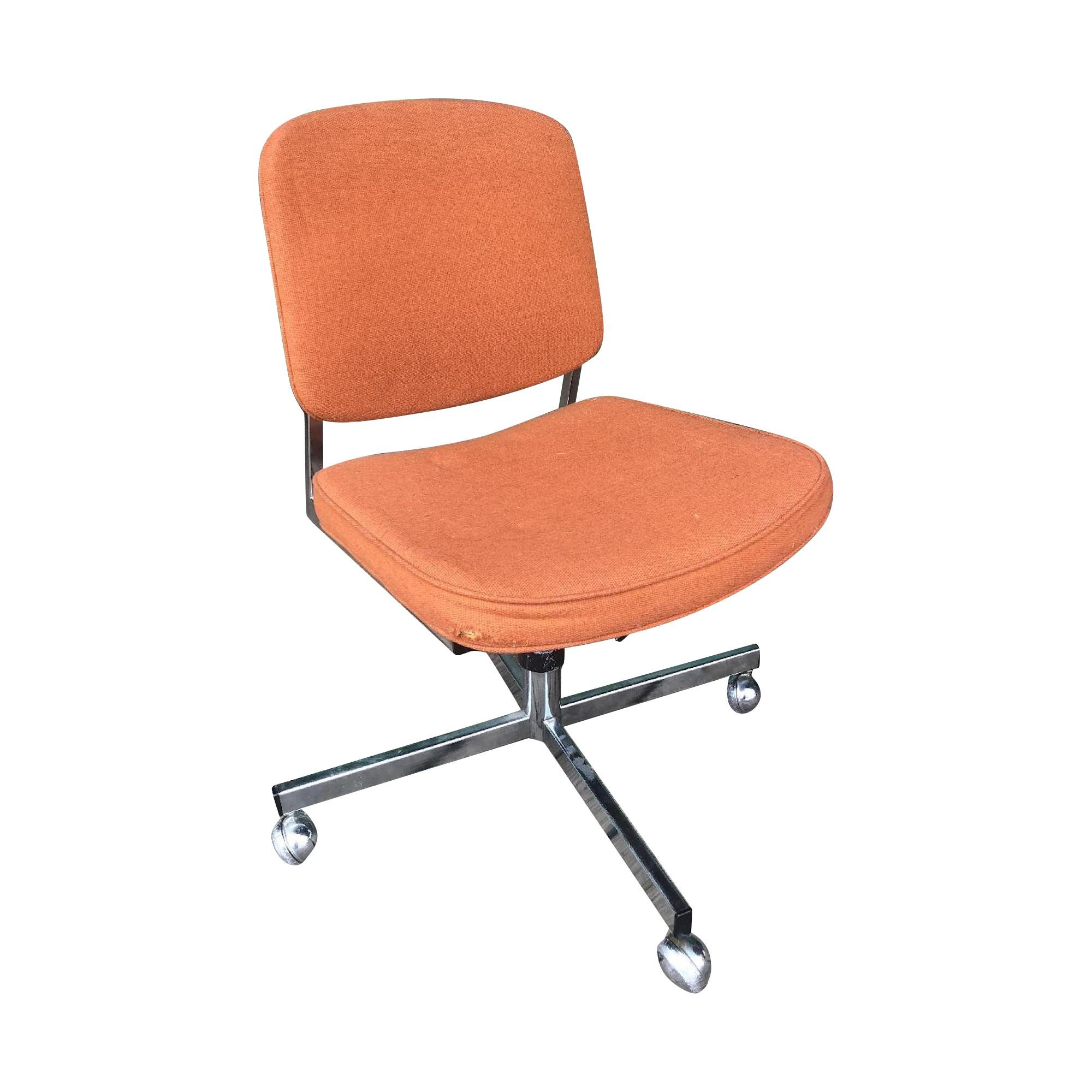 Designcraft Mid Century Modern Office Chair in Orange