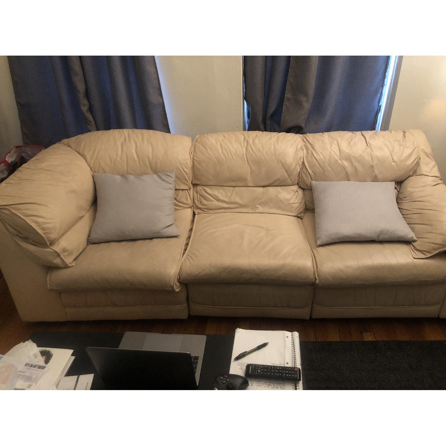 Reclining 3-Seater Leather Sofa