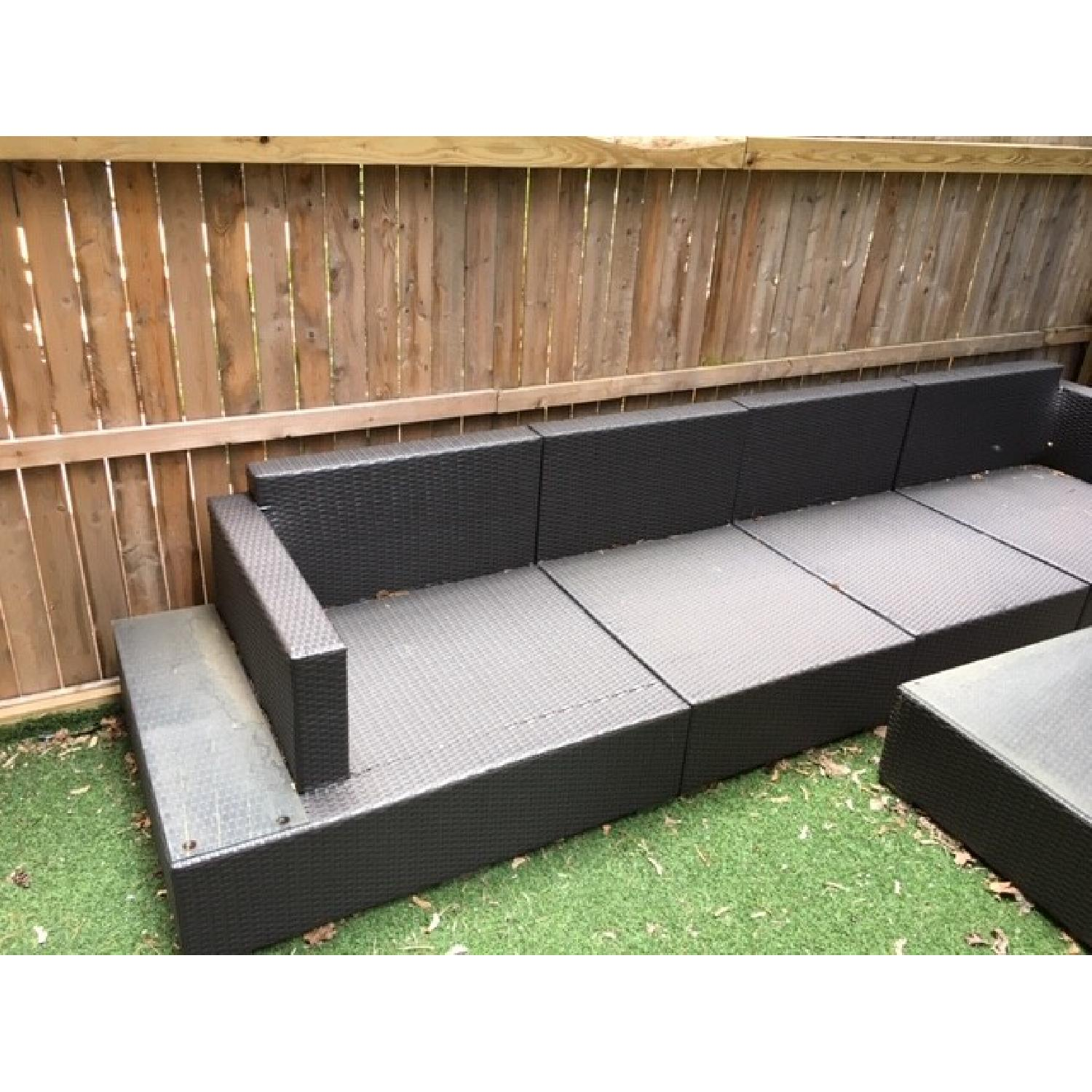 Frontgate Palermo Outdoor Sectional Sofa + Coffee Table