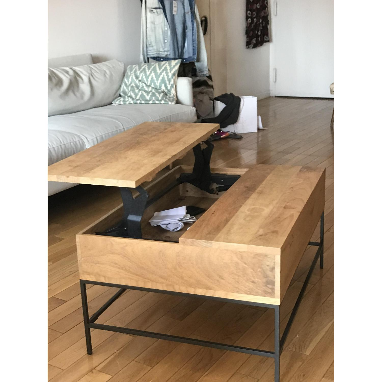 Pop Up Coffee Table.West Elm Industrial Storage Pop Up Coffee Table